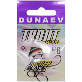 Крючок Dunaev Trout Super Black